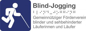 blind jogging blau